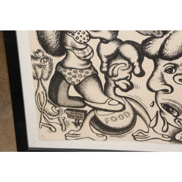 Abstract Peter Saul Lithograph Numbered 1/10 and Signed For Sale - Image 3 of 8