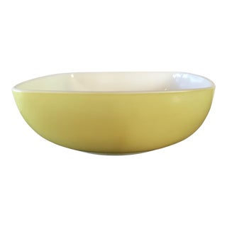 Pyrex Yellow Square Salad Bowl For Sale