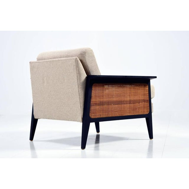 Mid-Century Modern Mid-Century Caned Arm Chair For Sale - Image 3 of 6