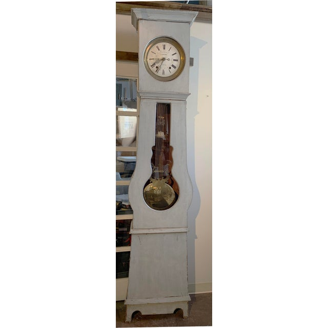 Antique French Painted Grandfather Clock For Sale - Image 13 of 13