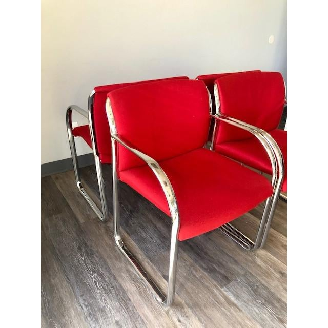 Metal Chrome Chairs - Set of Four For Sale - Image 7 of 8