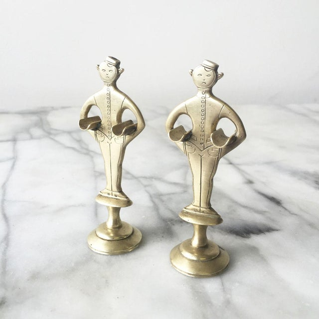 """1920s Brass """"Bellhop"""" Cigarette Holders - A Pair - Image 2 of 4"""