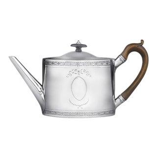 Hester Bateman Georgian Silver Oval Teapot