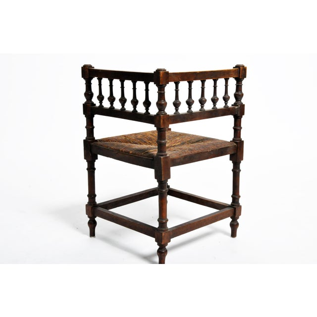 Wood French Wooden Corner Chairs - a Pair For Sale - Image 7 of 13