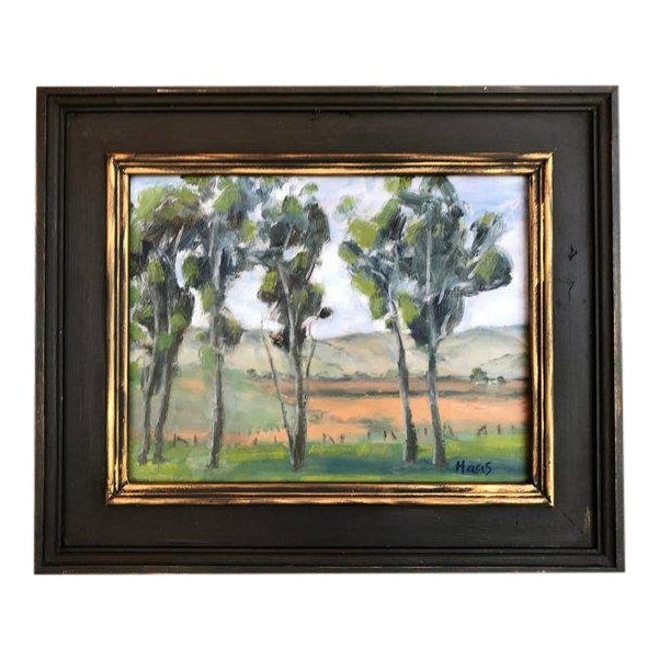Rush Ranch Eucalyptus Contemporary Plein Air Painting For Sale