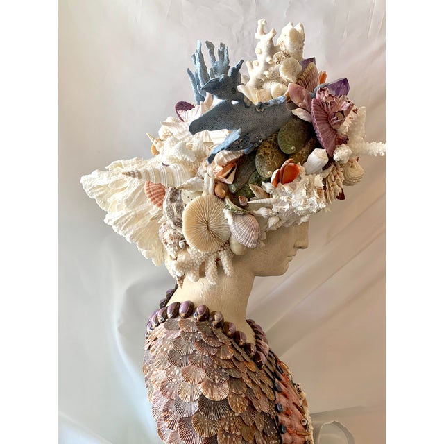 La Sirena Seashell Bust For Sale In West Palm - Image 6 of 11