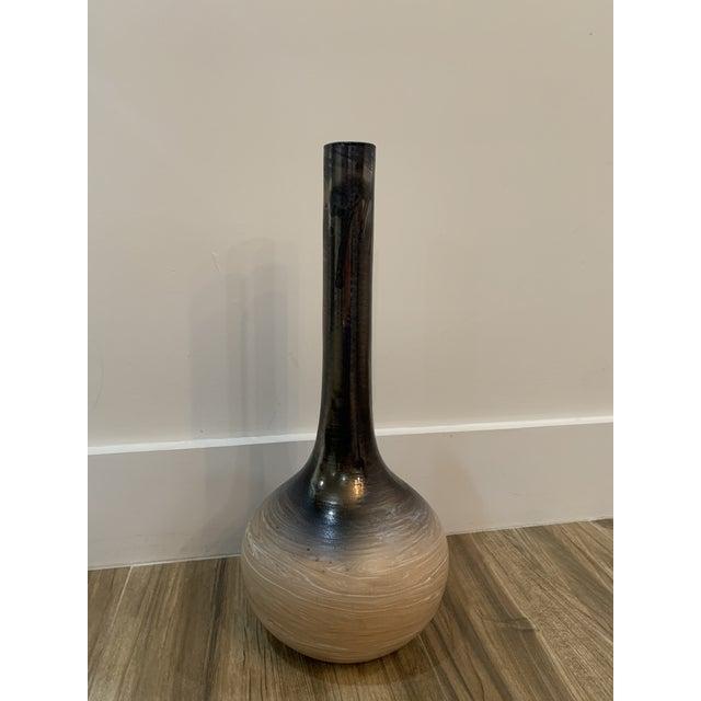Metal Vintage 1960s Moretti for Deruta Ceramic Vase For Sale - Image 7 of 13