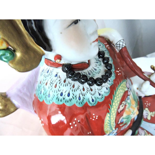 Vintage Chinese Emperor & Empress Seated Figures - Pair - Image 6 of 10
