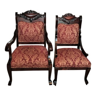 19th C. Empire Revival Chairs - a Pair For Sale