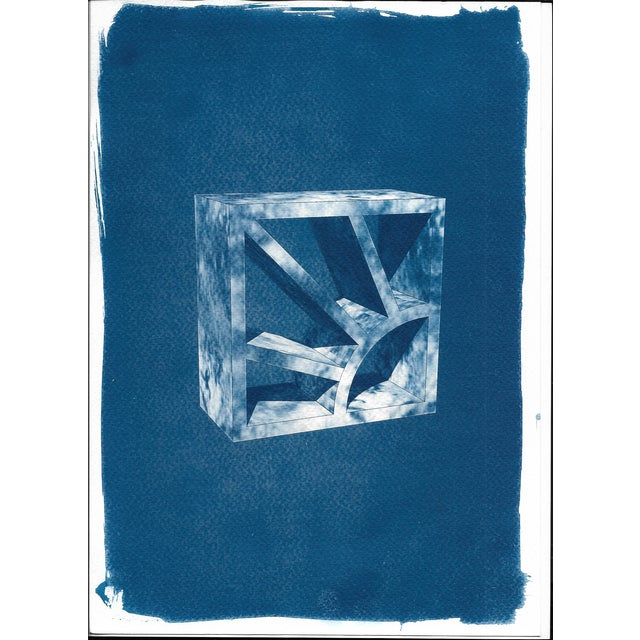 Cyanotype Print 3D Screen Block - Image 1 of 4