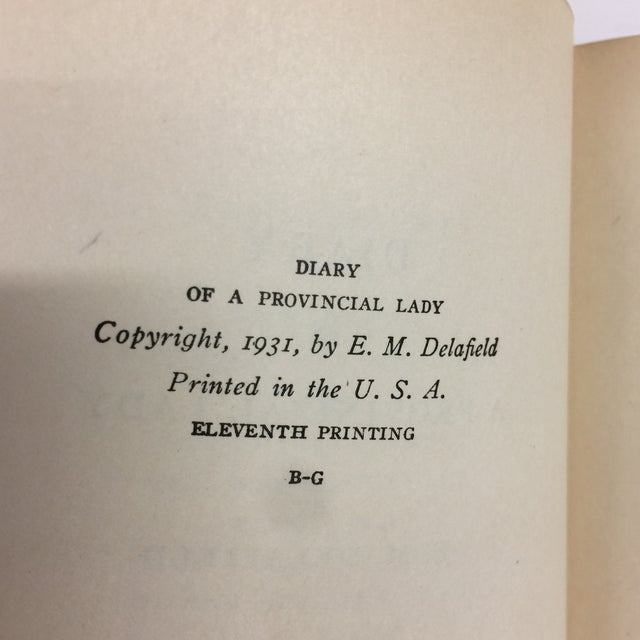 "E. M. Delafield ""Diary of a Provincial Lady"" 1931 Book For Sale - Image 5 of 11"