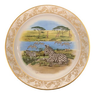 Lynn Chase Lenox Nature's Nursery Zebra Plate For Sale