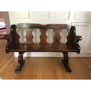 Late 20th Century Hardwood Bench Preview