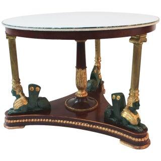 Italian Egyptian Revival Center Table For Sale