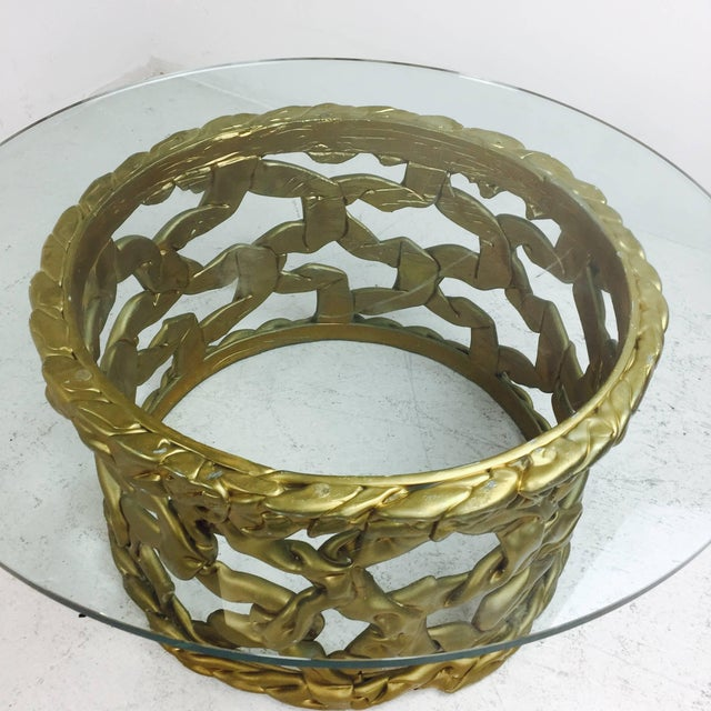 "Mid 20th Century Gold ""Ribbon"" Coffee Table in the Style of Tony Duquette For Sale - Image 5 of 6"
