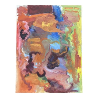 Bold Abstract Acrylic Painting on Canvas For Sale