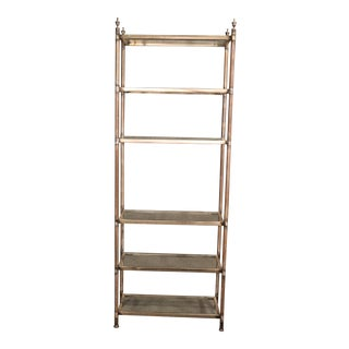 Solid Heavy Steel French Jansen Style Direcoire Style Mid Century Etagere C1950 For Sale