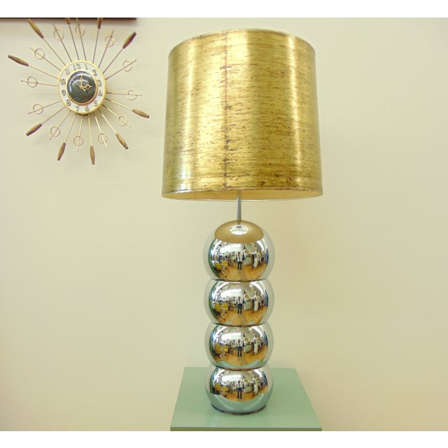 George Kovacs Stacked Chrome Ball Lamp - Image 2 of 7
