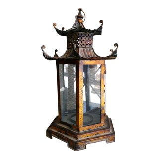 Gumps Pagoda Candle Lantern Garden Lights For Sale
