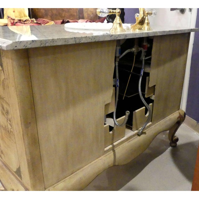 Chinoiserie Paint Decorated Sink Vanity For Sale - Image 12 of 13