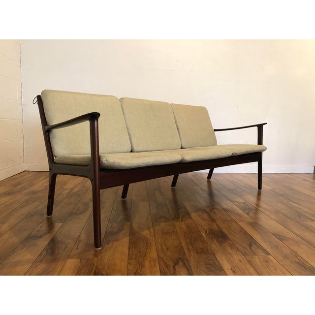 Poul Jeppesen Vintage Mid Century Modern Sofa by Ole Wanscher for Poul Jeppesen For Sale - Image 4 of 13