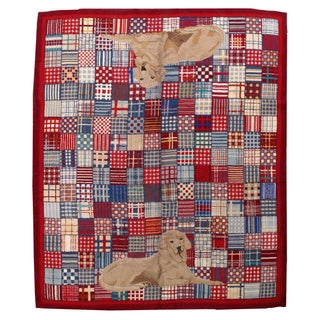 1960s American Hooked Rug - 9′10″ × 12′ For Sale