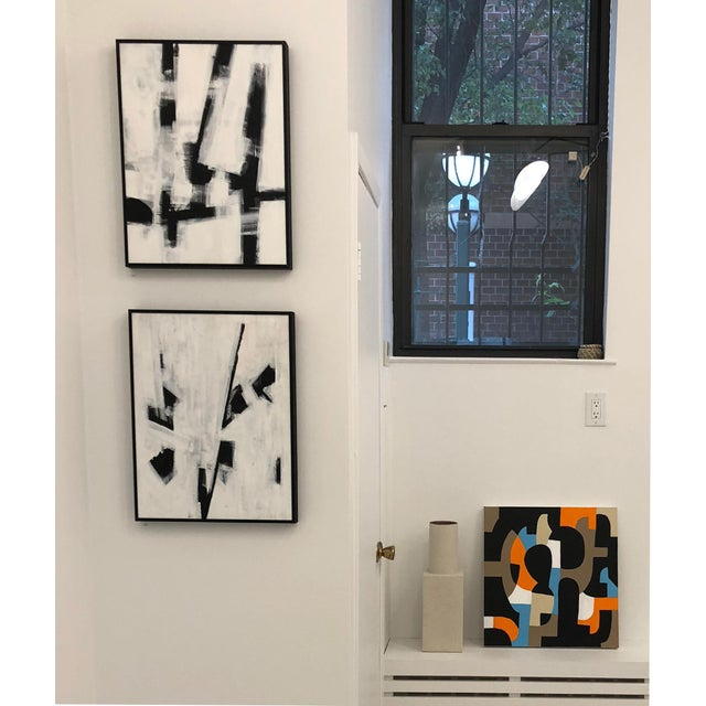"""Abstract Ilana Greenberg """"Fragments"""" Abstract Acrylic Framed Painting For Sale - Image 3 of 4"""