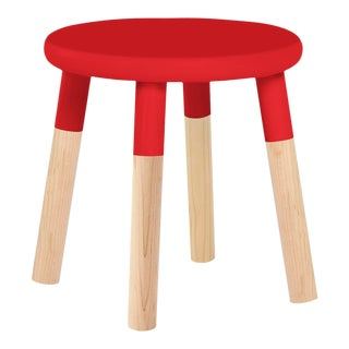 Peewee Kids Chair in Maple With Red Finish For Sale