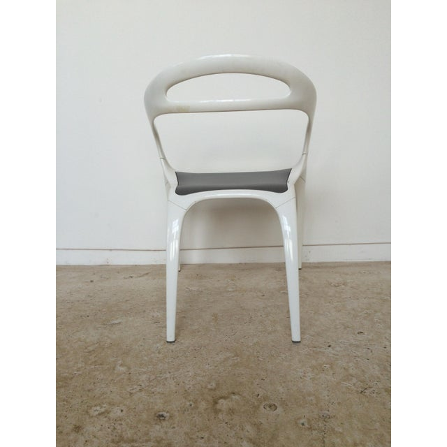 "Ross Lovegrove White Lacquer ""Go"" Chair - Image 4 of 6"