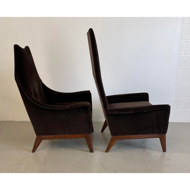Adrian Pearsall 1960s Adrian Pearsall Attributed High-Back Lounge Chairs - 2 Pieces For Sale - Image 4 of 8