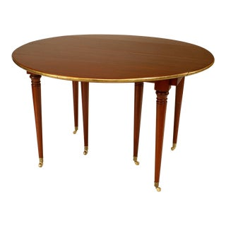 19th Century French Louis XVI Style Expanding Mahogany Dining Table For Sale
