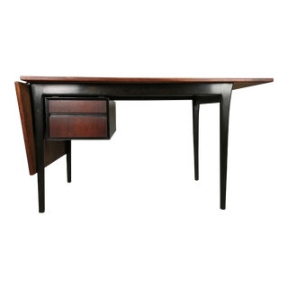 Mid Century Danish Modern Drop Leaf Desk in Rosewood by Arne Vodder for Sibast For Sale