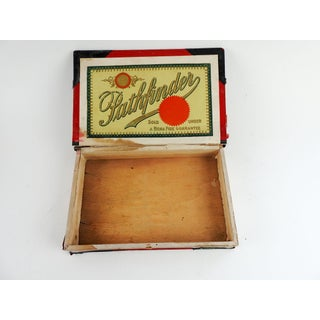 Antique Wooden Pathfinder Xmas Edition Book Shaped Cigar Box 1901 Preview