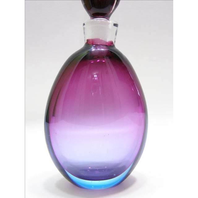Archimede Seguso Vintage Italian Murano Glass Decanter Mid-Century Modern MCM For Sale - Image 5 of 11