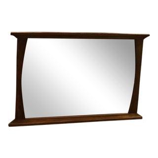 Mid-Century Modern Solid Walnut Mirror For Sale
