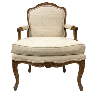 Vintage Cannell and Chaffin Queen Anne Fruitwood Armchair For Sale