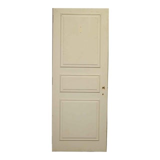 Three Panel White Wooden Door