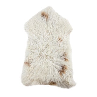 Long Wool Sheepskin Pelt Handmade Rug