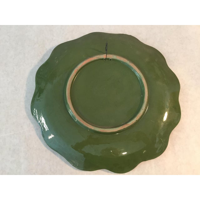 1920s Vintage Hand Painted Decorative Hanging Plate For Sale - Image 5 of 6