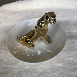 1990s Vintage Holiday Panther Ring Holder Preview