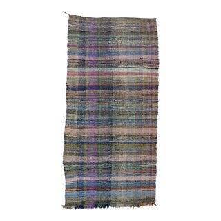 """Vintage Turkish Rag Rug - 4'10"""" x 10'2"""" For Sale"""