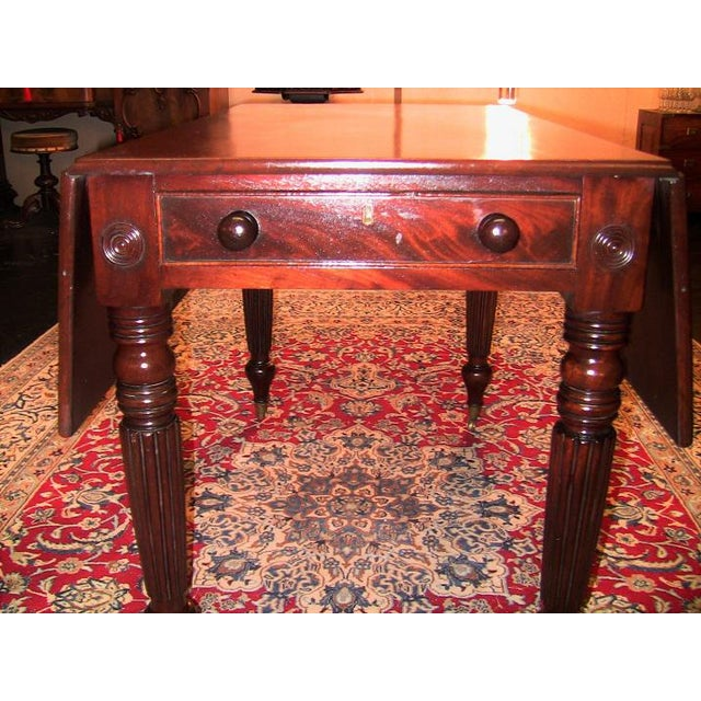 Early 19th Century 19c British William IV Mahogany Large Pembroke Table or Sofa Table For Sale - Image 5 of 9