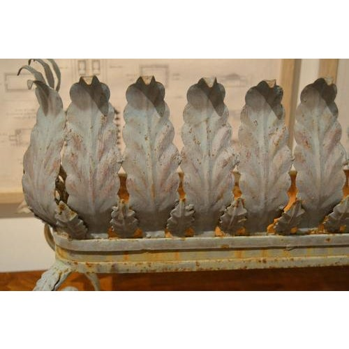 French Provincial Oblong Iron Planter From France For Sale - Image 3 of 10