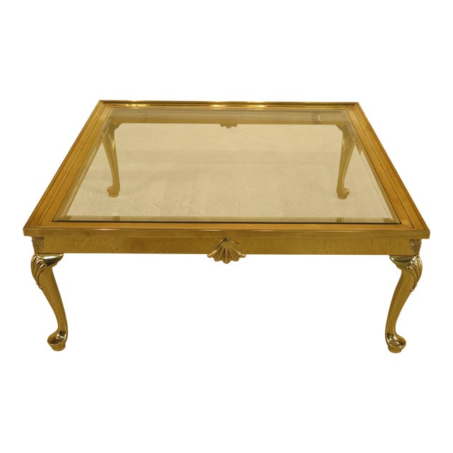 LaBarge Brass & Glass Coffee or Cocktail Table For Sale