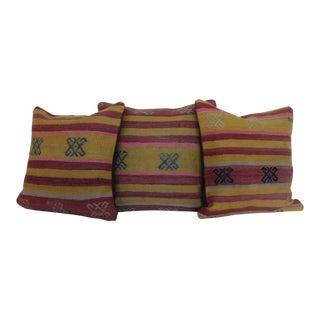 Vintage Rug Pillows - Set of 3 For Sale