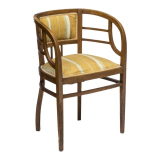French Art Nouveau Open Armchair, c. Early 20th Century