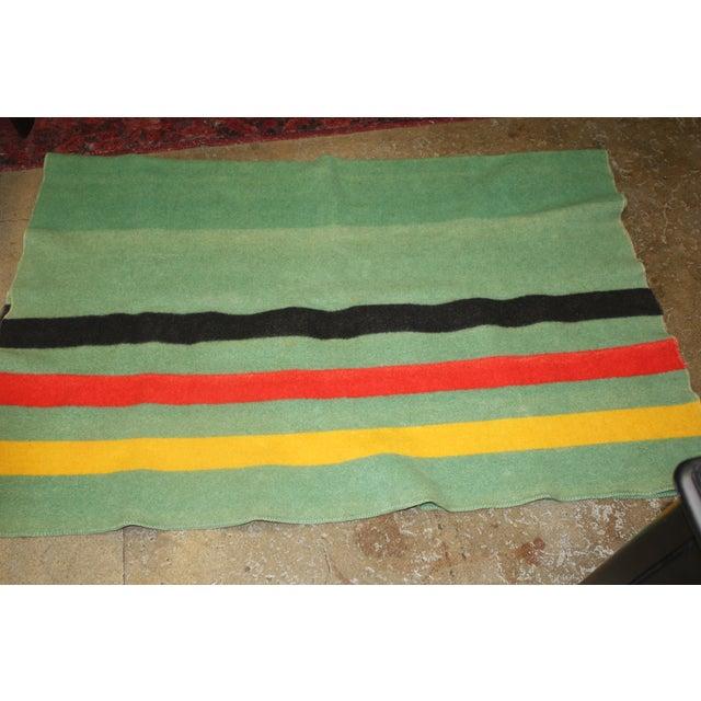 Vintage Colorful Stripe Wool Blanket - Image 4 of 4