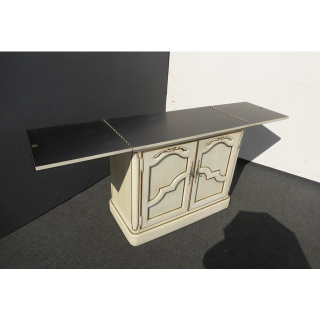 Thomasville French Country White & Gold Server For Sale In Los Angeles - Image 6 of 11