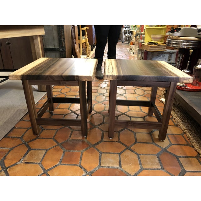 Artisan Made Amish Custom Poplar End Tables -A Pair For Sale - Image 11 of 11