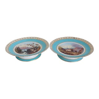 Antique Hand-Painted Compotes - Pair